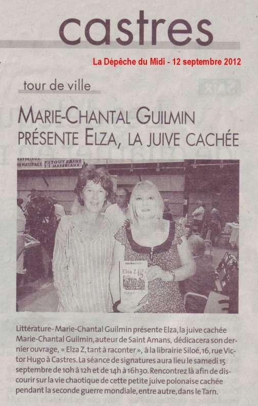 La Dépêche du Midi - 12 septembre 2012