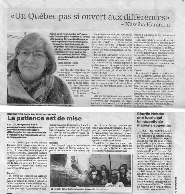 Le Peuple de Lévis, le 14 janvier 2015 (Québec)