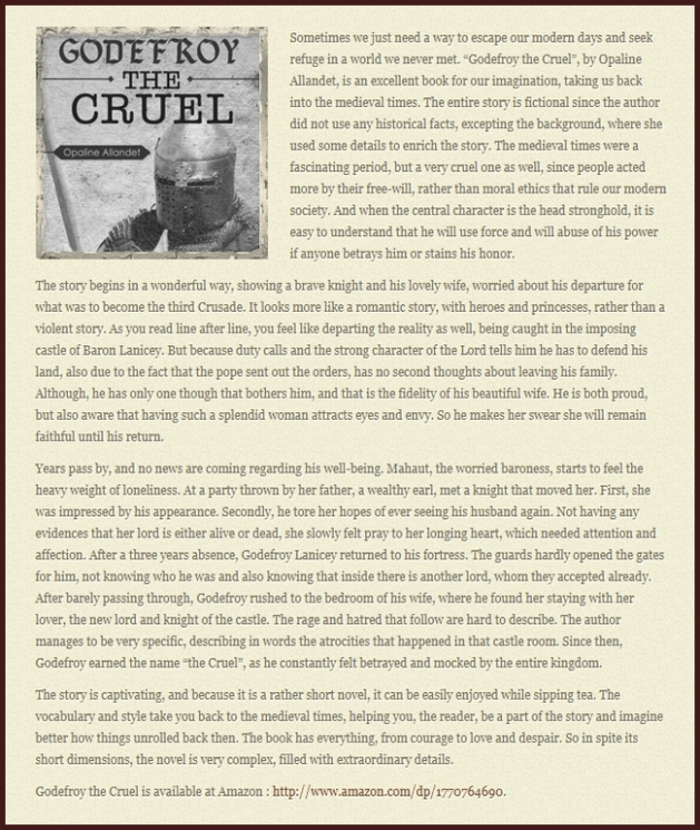 Cliquez ici pour consulter l'article sur le site internet de Curious History.