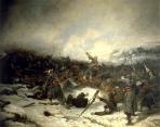 Les zouaves pontificaux à La bataille de Loigny, Charles Castellani (1838-1913), 1879, Musée de l'Armée, Paris - B
