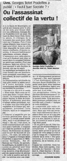 Georges Botet-Pradeilles - La Marseillaise - L'Hérault du jour (22 Août 2009) LOW