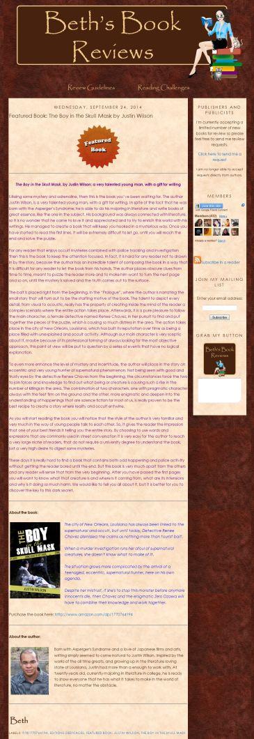 JustinWilson_BethsBookReviews_2014-09-24