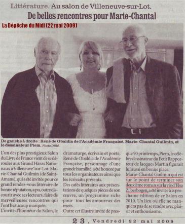 Marie-Chantal Guilmin - La D+®p+¬che du Midi (22 mai 2009) LOW