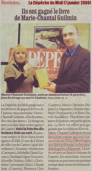Marie-Chantal Guilmin - La D+®p+¬che du Midi (7 janvier 2009)