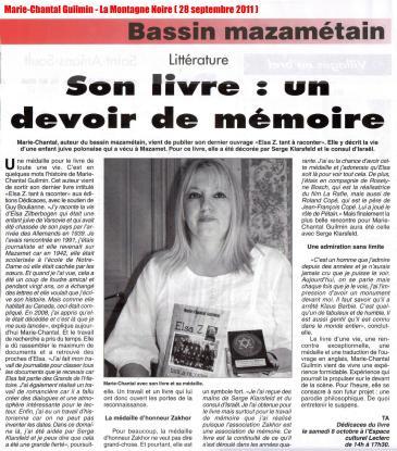 Marie-Chantal Guilmin - La Montagne Noire (28 septembre 2011) LOW