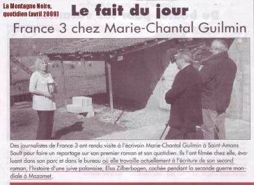 Marie-Chantal Guilmin - La Montagne Noire, quotidien (avril 2009)